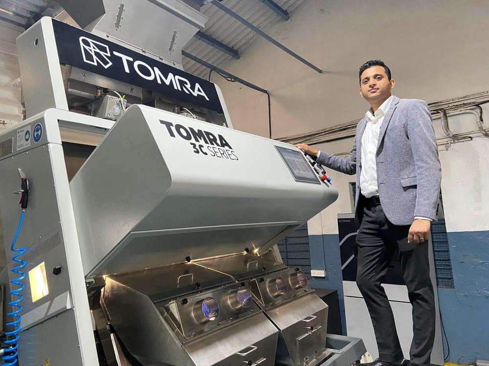 India Abhishek Bhargava with the TOMRA 3C