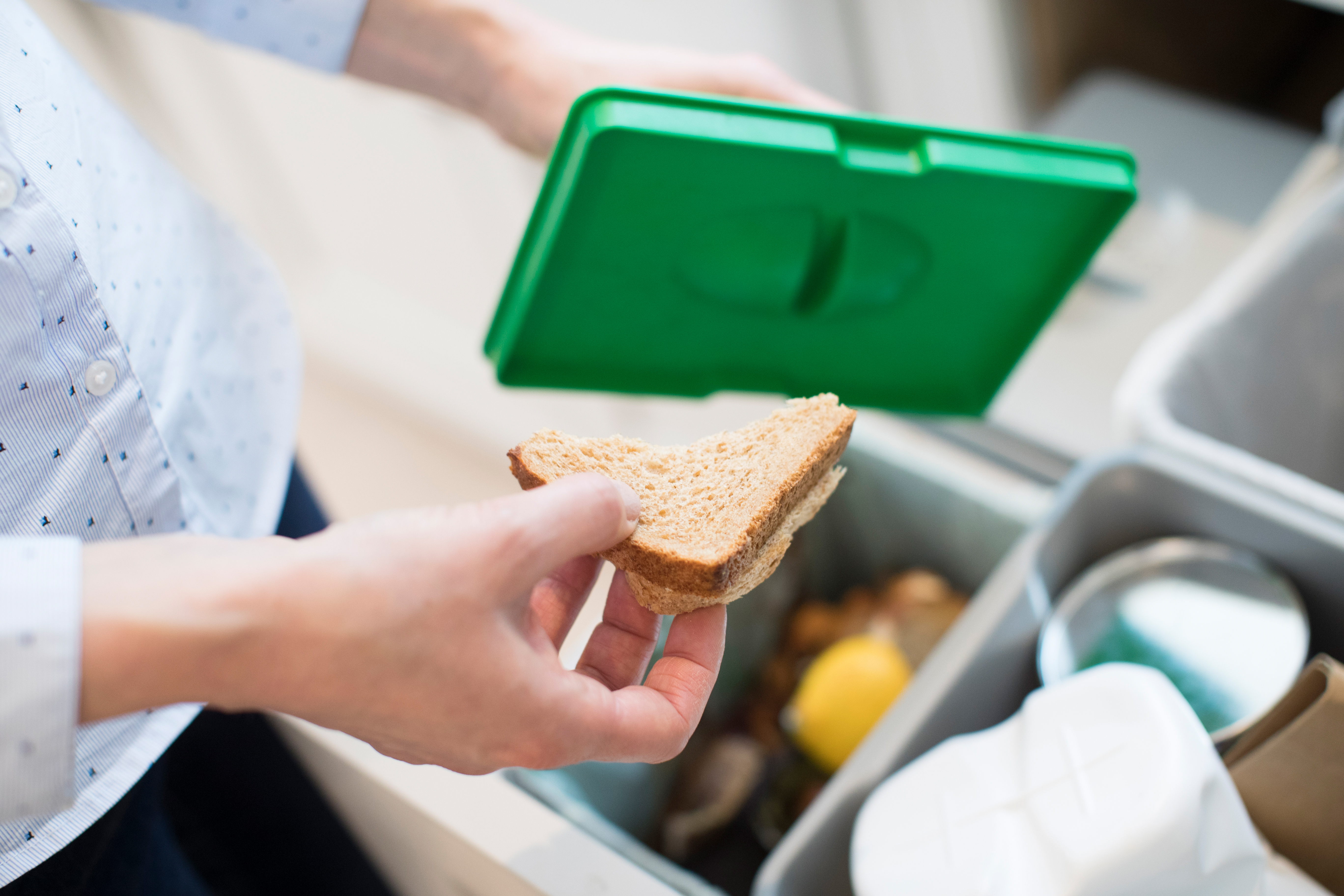 Consumer throwing out food